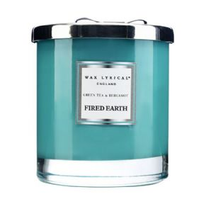 Fired Earth Green Tea & Bergamot Large Fragranced Jar Candle